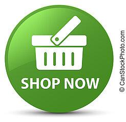 Shop now soft green round button