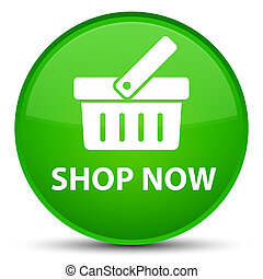 Shop now special green round button