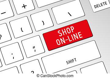 Shop on-line - 3D computer keyboard