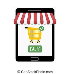 Shop on tablet