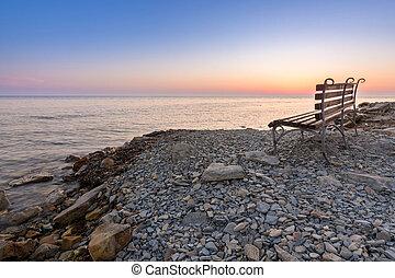 Shop on the stony shore of the Black Sea, Anapa, Russia