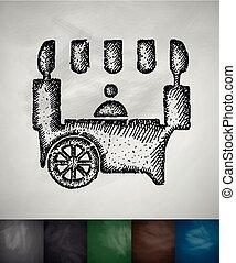 shop on wheels icon