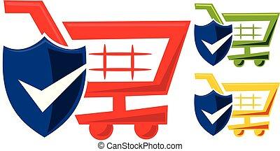 Shop Online Logo Design Template Vector