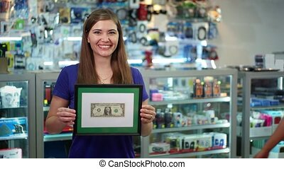 Shop Owners Showing First Dollar - People running small...