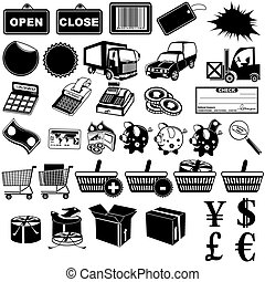 Shop Pictogram Icons 1 - Great collection of 36 different...