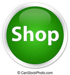 Shop premium green round button