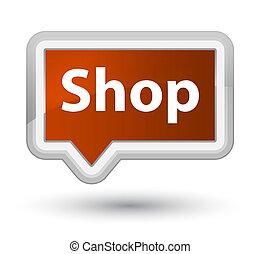Shop prime brown banner button