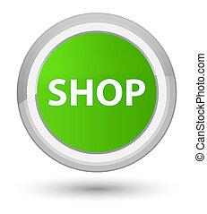Shop prime soft green round button