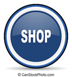 shop round glossy icon, modern design web element