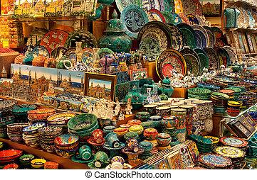 Shop selling porcelain on the Grand Bazaar