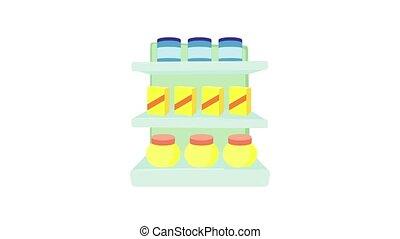 Shop shelves icon animation best object on white background