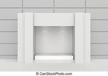 Shop showcase. 3d rendering