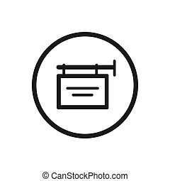 Shop sign icon on a white background