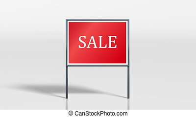 shop signage stand discount 4k - the promotion signage of...