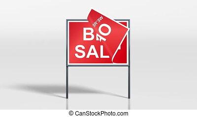 shop signage stand open big sale 4k - the promotion signage...