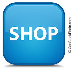 Shop special cyan blue square button
