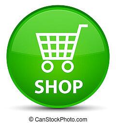 Shop special green round button