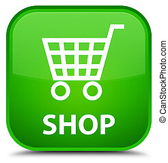 Shop special green square button