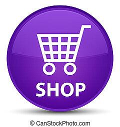 Shop special purple round button