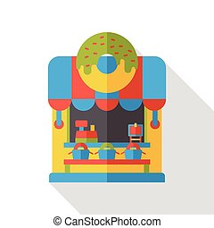 shop store donut flat icon