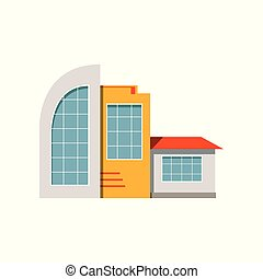 Shop store facade, exterior of market, modern building vector Illustration