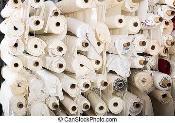 shop., tela, textil, skeins