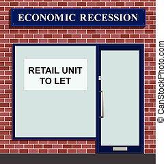 Shop to let - Vacant shop unit to let due to economic...