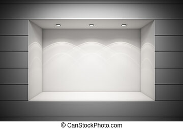 Shop window - An empty storefront of shop