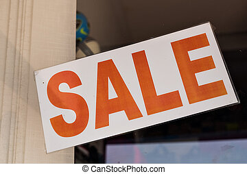 Shop Window With Sale Sign