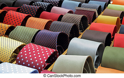 shop window with ties - ties in Italy, Europe