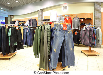 shop with clothes