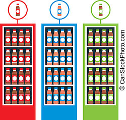 Shop with drinks - Vector illustration. It is created in the...