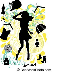 shopaholic  - Silhouettes of girls
