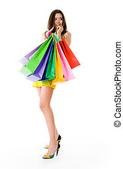 Shopaholic - Photo of glamorous shopper with lots of bags...
