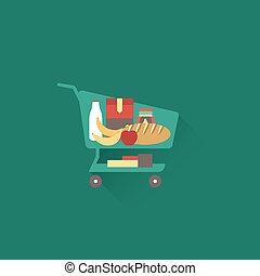 Shoping cart - Vector shopping cart