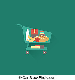 Shoping cart - Vector shopping cart