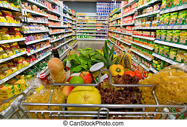 shoppa vagnen, supermarket