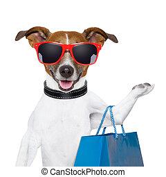 shoppen , dog
