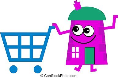 shoppen, haus