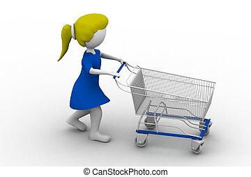 shoppen, m�dchen