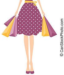 shoppen , meisje