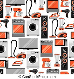 shoppen , model, huisgezin, seamless, verkoop, appliances., reclame, achtergrond, items, thuis