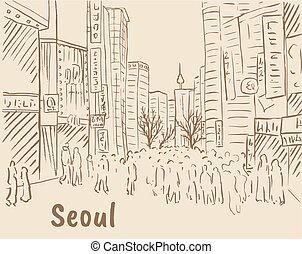 shoppen, myeongdong, straße