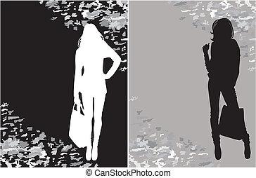 shoppen , silhouette
