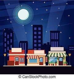 shoppen , spotprent, winkel