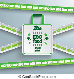 shoppen , teken, verkoop, zak, lijnen, bio