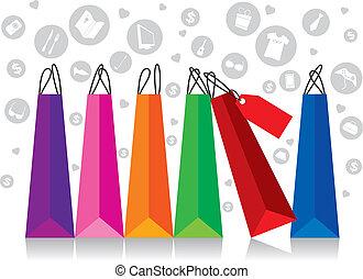 shoppen, textanzeige