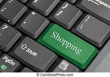 shoppen , toetsenbord
