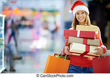 shoppen, weihnachtszeit