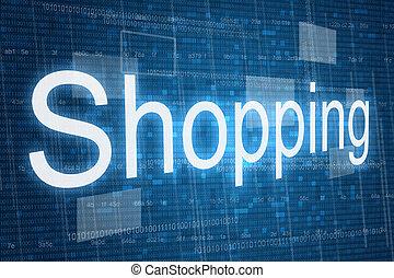 shoppen, wort, hintergrund, digital